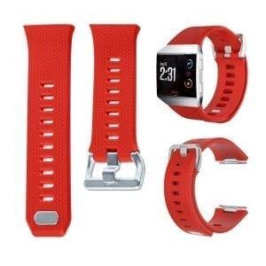 Luxe Siliconen Bandje voor FitBit Ionic – Rood-009