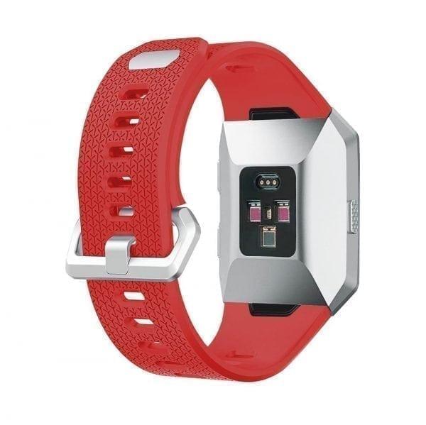 Luxe Siliconen Bandje voor FitBit Ionic – Rood