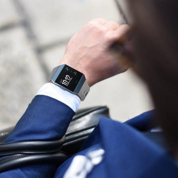 Luxe Siliconen Bandje voor FitBit Ionic – grijs-007