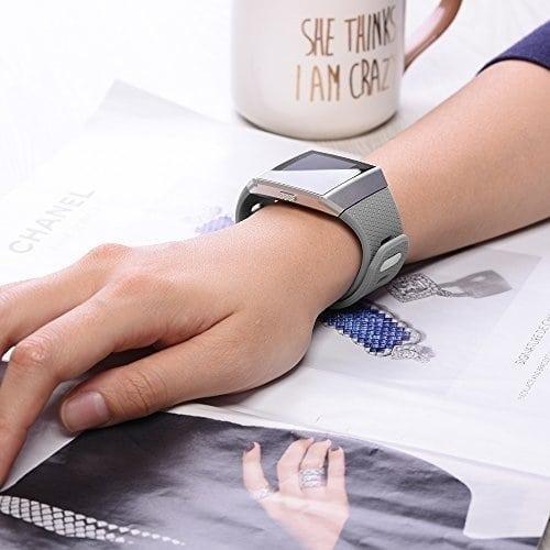 Luxe Siliconen Bandje voor FitBit Ionic – grijs-009