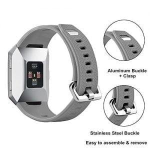 Luxe Siliconen Bandje voor FitBit Ionic – grijs-010