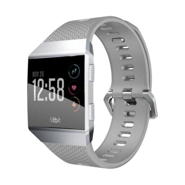 Luxe Siliconen Bandje voor FitBit Ionic – grijs-012