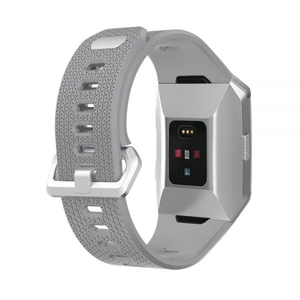 Luxe Siliconen Bandje voor FitBit Ionic – grijs