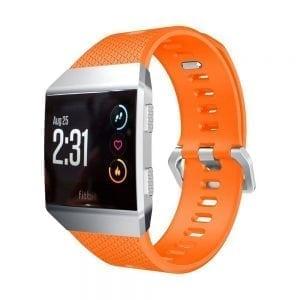 Luxe Siliconen Bandje voor FitBit Ionic – oranje