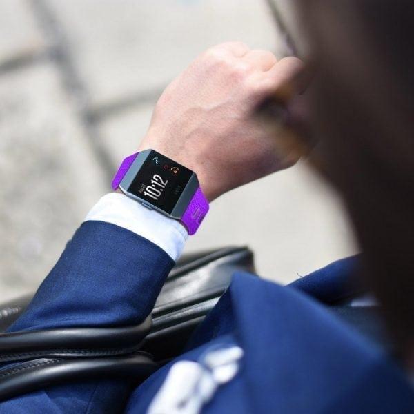 Luxe Siliconen Bandje voor FitBit Ionic – paars-005