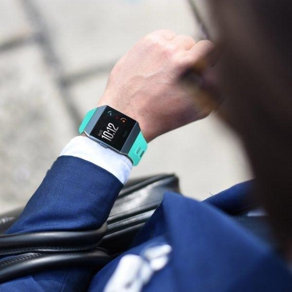 Luxe Siliconen Bandje voor FitBit Ionic – sky blauw-006