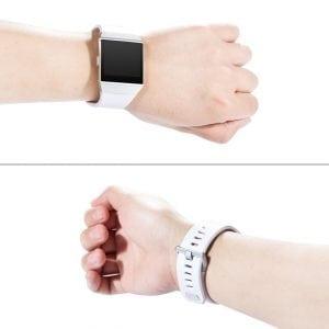Luxe Siliconen Bandje voor FitBit Ionic – wit-004