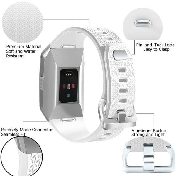 Luxe Siliconen Bandje voor FitBit Ionic – wit-005