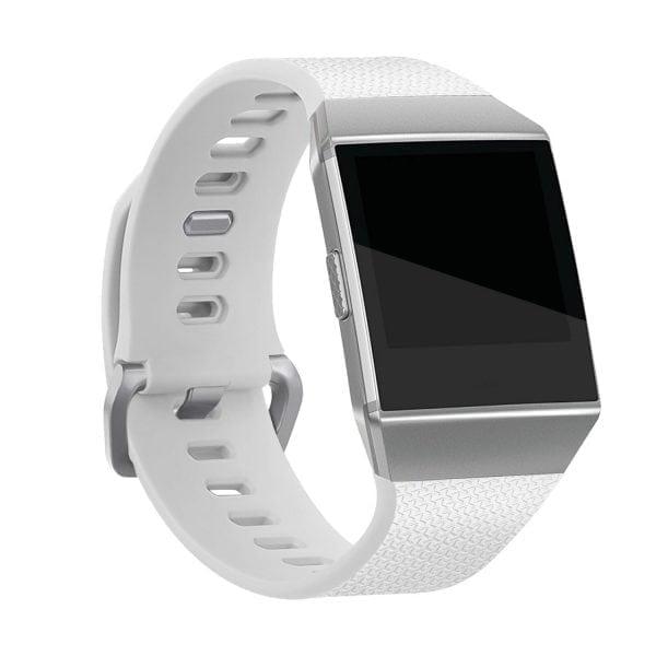 Luxe Siliconen Bandje voor FitBit Ionic – wit-006