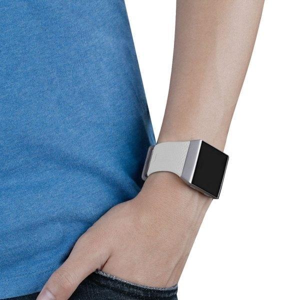 Luxe Siliconen Bandje voor FitBit Ionic – wit-008