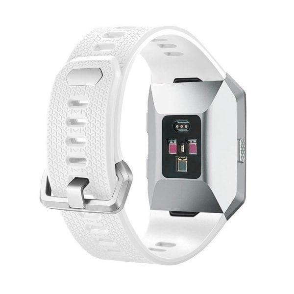 Luxe Siliconen Bandje voor FitBit Ionic – wit-010