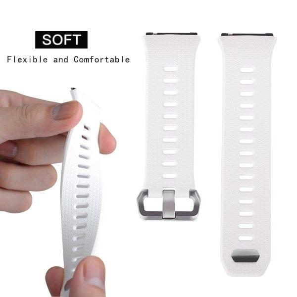Luxe Siliconen Bandje voor FitBit Ionic – wit-011