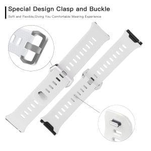 Luxe Siliconen Bandje voor FitBit Ionic – wit-012