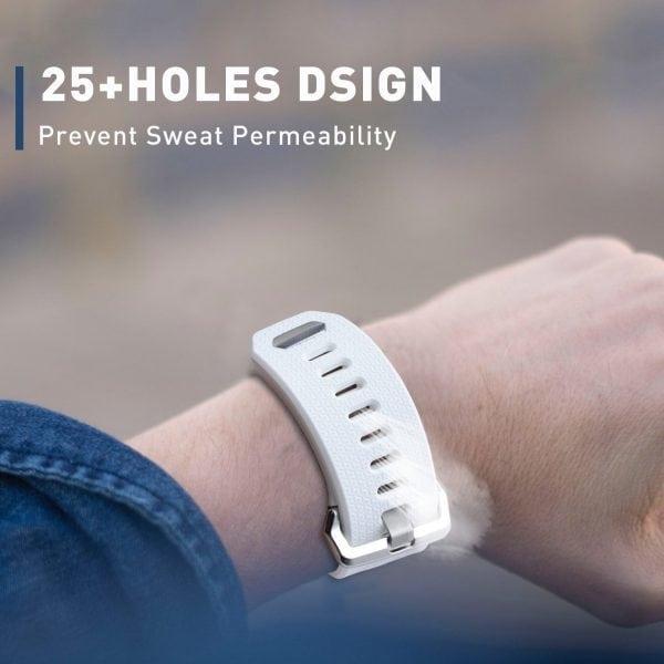 Luxe Siliconen Bandje voor FitBit Ionic – wit-016