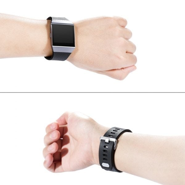 Luxe Siliconen Bandje voor FitBit Ionic – zwart-001