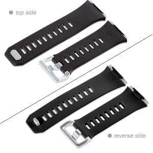 Luxe Siliconen Bandje voor FitBit Ionic – zwart-003