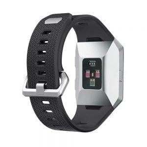 Luxe Siliconen Bandje voor FitBit Ionic – zwart