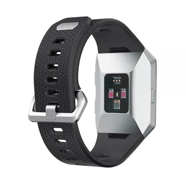 Luxe Siliconen Bandje voor FitBit Ionic – zwart-006