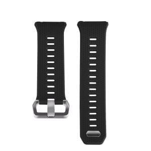Luxe Siliconen Bandje voor FitBit Ionic – zwart-009