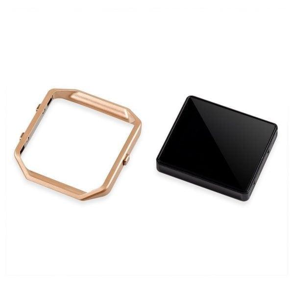 RVS vervangings frame cover protector voor Fitbit Blaze - rose goud-001