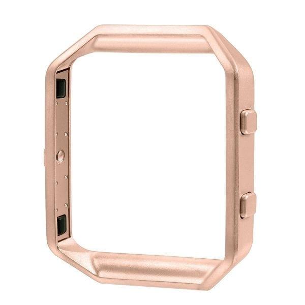 RVS vervangings frame cover protector voor Fitbit Blaze - rose goud-004