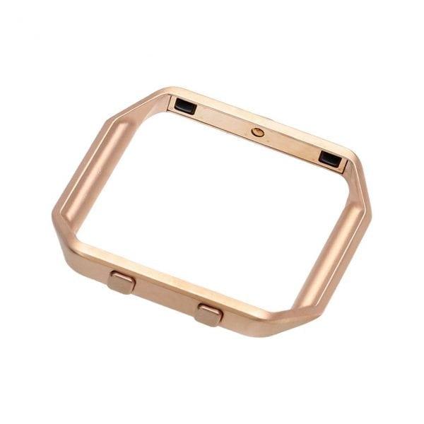 RVS vervangings frame cover protector voor Fitbit Blaze - rose goud-005