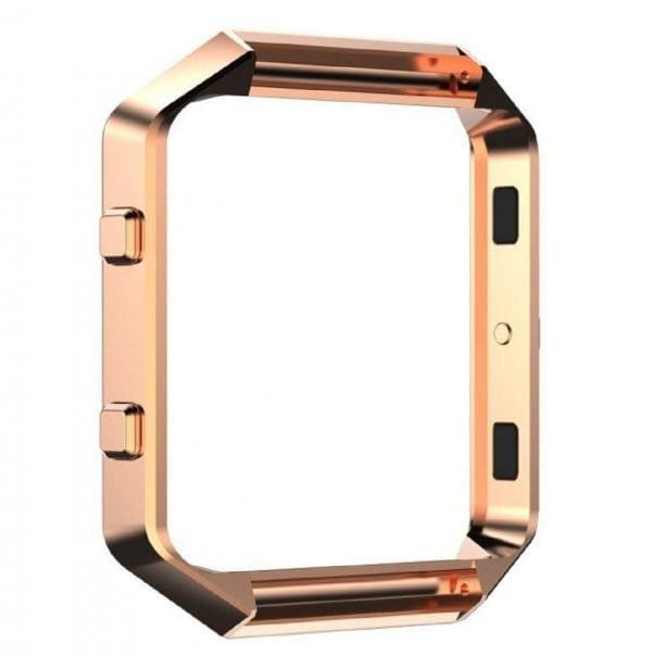 RVS vervangings frame cover protector voor Fitbit Blaze - rose goud-007