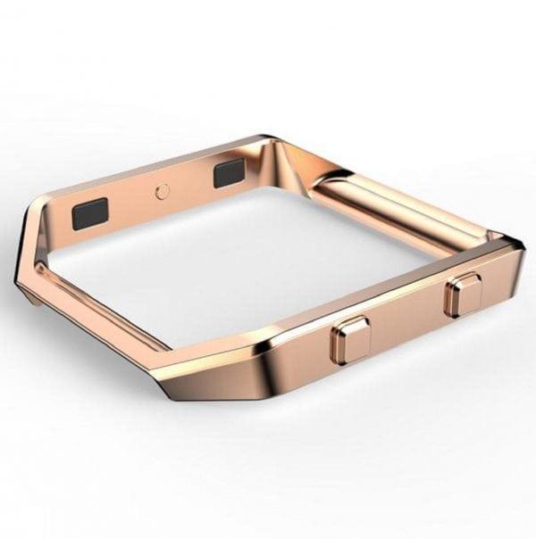 RVS vervangings frame cover protector voor Fitbit Blaze - rose goud-009