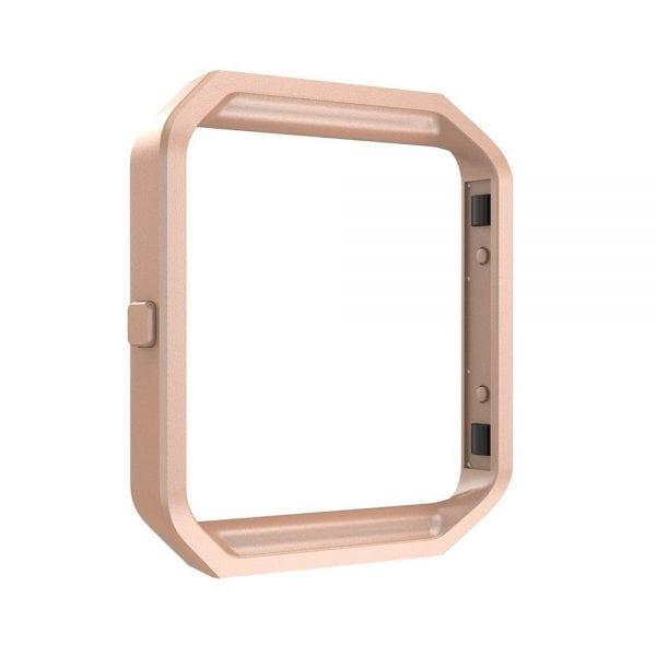 RVS vervangings frame cover protector voor Fitbit Blaze - rose goud-010