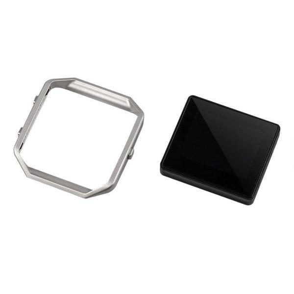 RVS vervangings frame cover protector voor Fitbit Blaze - zilver-005