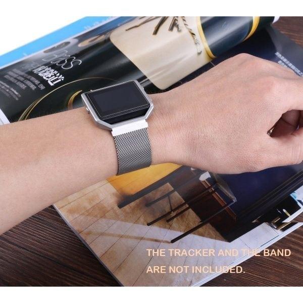 RVS vervangings frame cover protector voor Fitbit Blaze - zilver-012