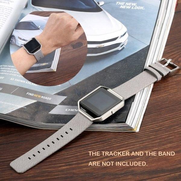 RVS vervangings frame cover protector voor Fitbit Blaze - zilver-013
