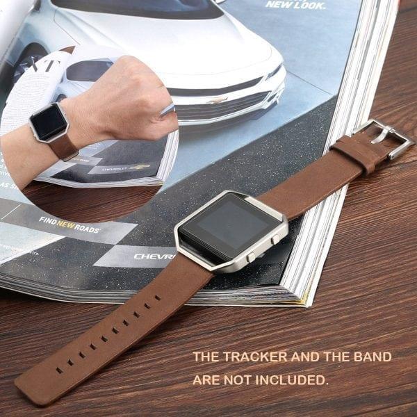 RVS vervangings frame cover protector voor Fitbit Blaze - zilver-014