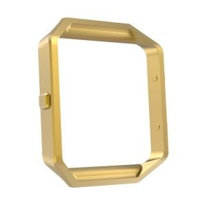 RVS vervangings frame / cover / protector voor Fitbit Blaze - goud