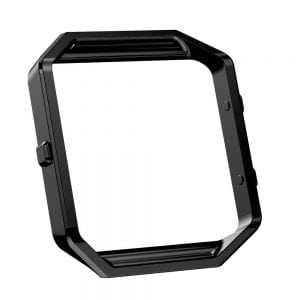 RVS vervangings frame / cover / protector voor Fitbit Blaze - zwart