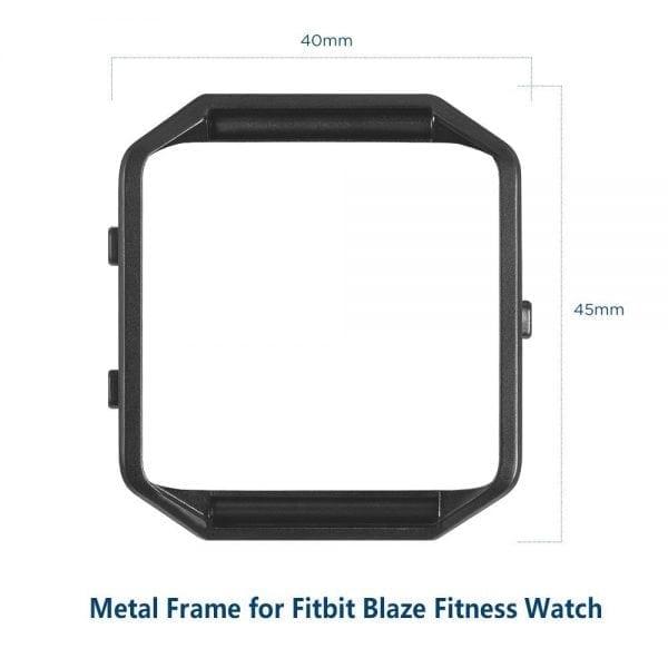 RVS vervangingsframe cover protector voor Fitbit Blaze - zwart-005