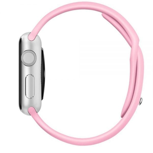 Rubberen sport bandje voor de Apple Watch roze-100