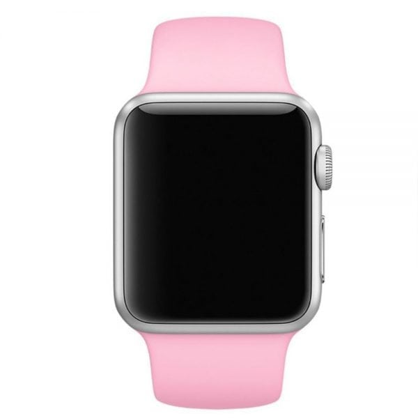 Rubberen sport bandje voor de Apple Watch roze-101