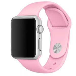Rubberen sport bandje voor de Apple Watch 38mm - 40mm S/M - roze