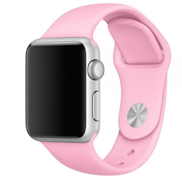 Rubberen sport bandje voor de Apple Watch roze-103