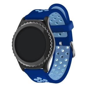 Sportbandje Voor de Samsung Gear S3 Classic Frontier - Siliconen Armband Polsband Strap Band Sportbandje - blauw - licht blauw-001