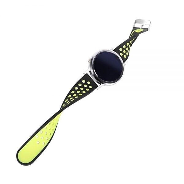 Sportbandje Voor de Samsung Gear S3 Classic Frontier - Siliconen Armband Polsband Strap Band Sportbandje - zwart - geel-001