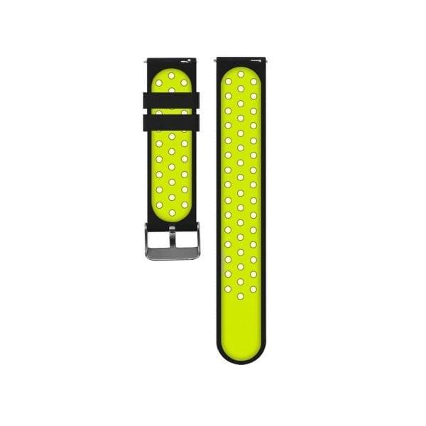 Sportbandje Voor de Samsung Gear S3 Classic Frontier - Siliconen Armband Polsband Strap Band Sportbandje - zwart - geel-002