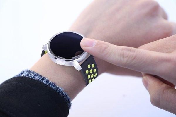 Sportbandje Voor de Samsung Gear S3 Classic Frontier - Siliconen Armband Polsband Strap Band Sportbandje - zwart - geel-003