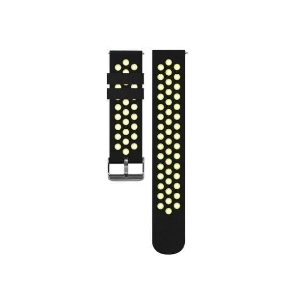 Sportbandje Voor de Samsung Gear S3 Classic Frontier - Siliconen Armband Polsband Strap Band Sportbandje - zwart - geel-007