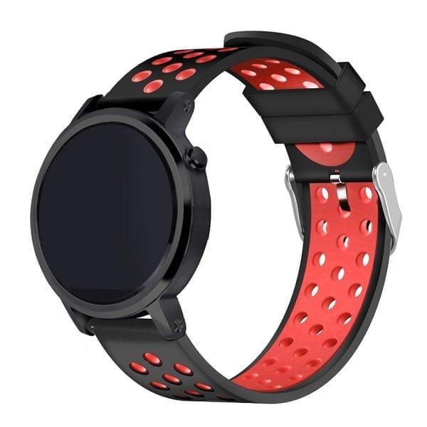 Sportbandje Voor de Samsung Gear S3 Classic Frontier - Siliconen Armband Polsband Strap Band Sportbandje - zwart - geel-015