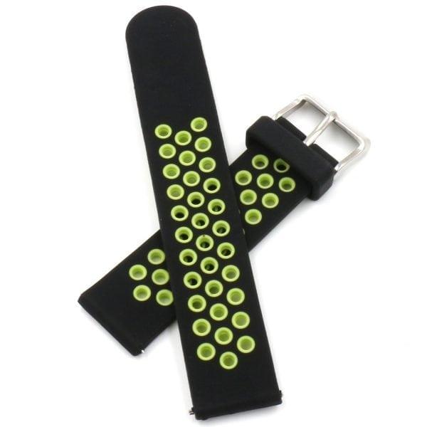Sportbandje Voor de Samsung Gear S3 Classic Frontier - Siliconen Armband Polsband Strap Band Sportbandje - zwart - geel-016