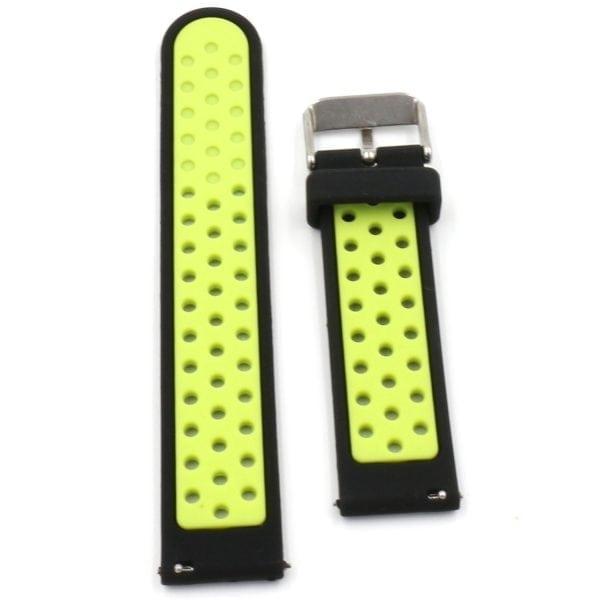 Sportbandje Voor de Samsung Gear S3 Classic Frontier - Siliconen Armband Polsband Strap Band Sportbandje - zwart - geel-017