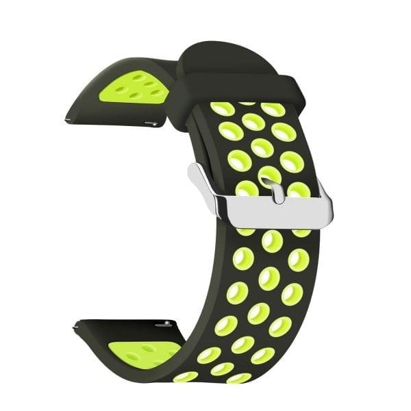 Sportbandje Voor de Samsung Gear S3 Classic Frontier - Siliconen Armband Polsband Strap Band Sportbandje - zwart - geel-018