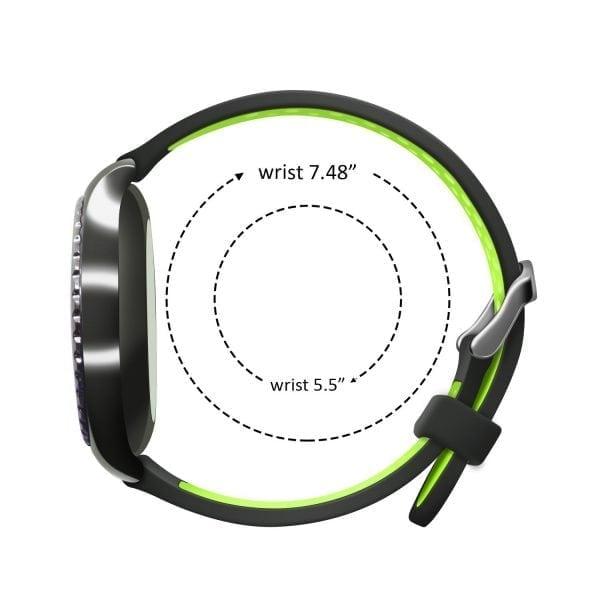 Sportbandje Voor de Samsung Gear S3 Classic Frontier - Siliconen Armband Polsband Strap Band Sportbandje - zwart - geel-020